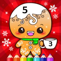 Happy Kids Christmas Coloring Book By Numbers 2.4  APK Download