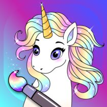 Animated Glitter Coloring Book – My Little Unicorn 10.2 APK Download